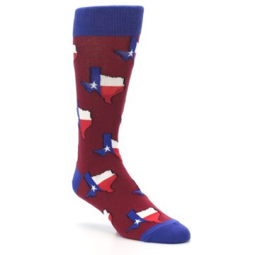 Image of Red Blue Texas State Men's Dress Socks (side-1-27)