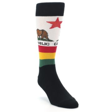 Image of California Flag Men's Dress Socks (side-1-front-02)