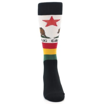 Image of California Flag Men's Dress Socks (front-04)