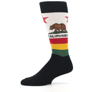 Image of California Flag Men's Dress Socks (side-2-11)
