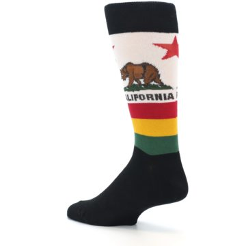Image of California Flag Men's Dress Socks (side-2-back-14)