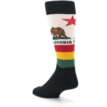 Image of California Flag Men's Dress Socks (side-2-back-15)