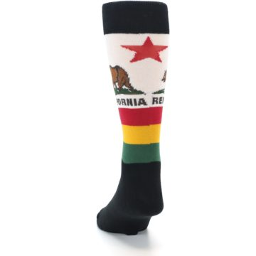 Image of California Flag Men's Dress Socks (back-17)