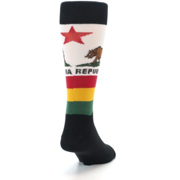 Image of California Flag Men's Dress Socks (side-1-back-20)