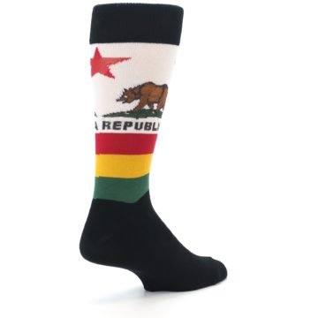 Image of California Flag Men's Dress Socks (side-1-back-22)