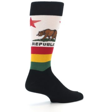 Image of California Flag Men's Dress Socks (side-1-23)