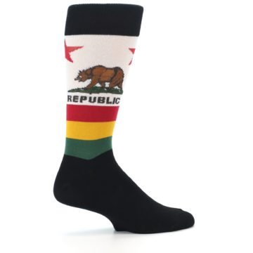 Image of California Flag Men's Dress Socks (side-1-24)