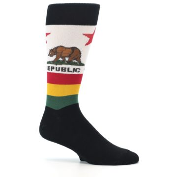 Image of California Flag Men's Dress Socks (side-1-25)