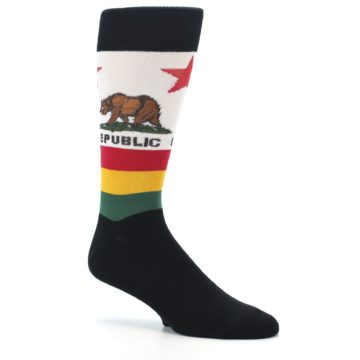 Image of California Flag Men's Dress Socks (side-1-26)