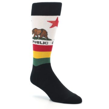Image of California Flag Men's Dress Socks (side-1-27)