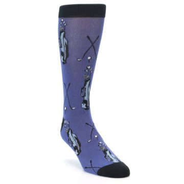Image of Blue Golf Clubs Bamboo Men's Dress Socks (side-1-front-02)