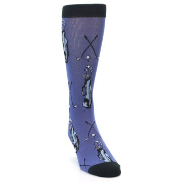 Image of Blue Golf Clubs Bamboo Men's Dress Socks (side-1-front-03)