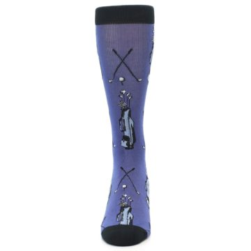 Image of Blue Golf Clubs Bamboo Men's Dress Socks (front-05)