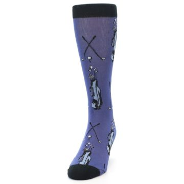 Image of Blue Golf Clubs Bamboo Men's Dress Socks (side-2-front-06)