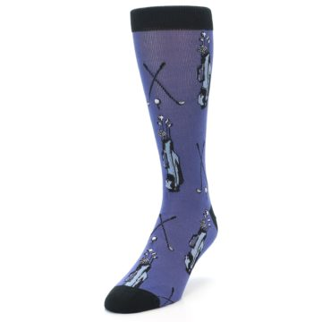 Image of Blue Golf Clubs Bamboo Men's Dress Socks (side-2-front-07)