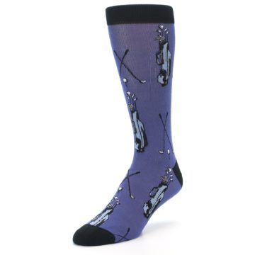 Image of Blue Golf Clubs Bamboo Men's Dress Socks (side-2-front-08)