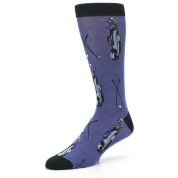 Image of Blue Golf Clubs Bamboo Men's Dress Socks (side-2-09)