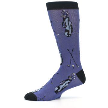 Image of Blue Golf Clubs Bamboo Men's Dress Socks (side-2-11)