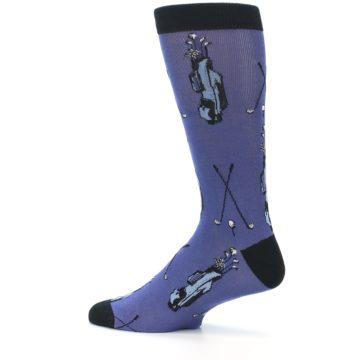 Image of Blue Golf Clubs Bamboo Men's Dress Socks (side-2-13)