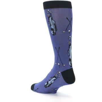 Image of Blue Golf Clubs Bamboo Men's Dress Socks (side-2-back-15)