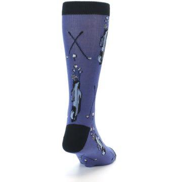 Image of Blue Golf Clubs Bamboo Men's Dress Socks (side-1-back-20)