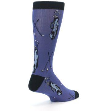 Image of Blue Golf Clubs Bamboo Men's Dress Socks (side-1-back-22)