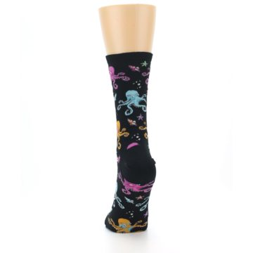 Image of Black Multi Octopus Women's Dress Socks (back-17)