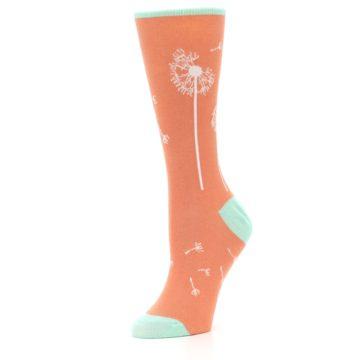 Image of Coral Dandelions Women's Dress Socks (side-2-09)