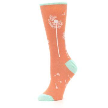 Image of Coral Dandelions Women's Dress Socks (side-2-10)