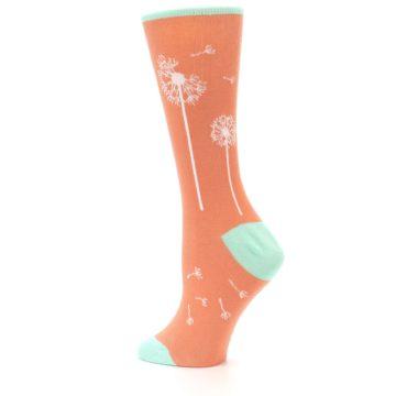 Image of Coral Dandelions Women's Dress Socks (side-2-13)