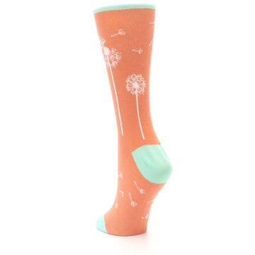 Image of Coral Dandelions Women's Dress Socks (side-2-back-15)