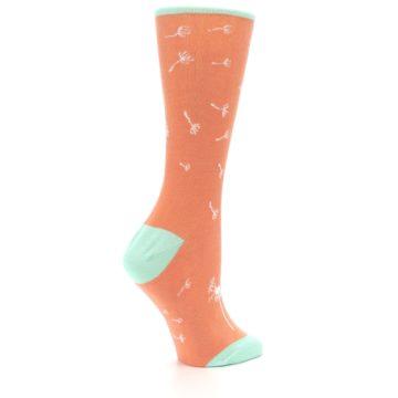 Image of Coral Dandelions Women's Dress Socks (side-1-23)