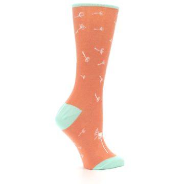 Image of Coral Dandelions Women's Dress Socks (side-1-24)