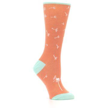 Image of Coral Dandelions Women's Dress Socks (side-1-25)