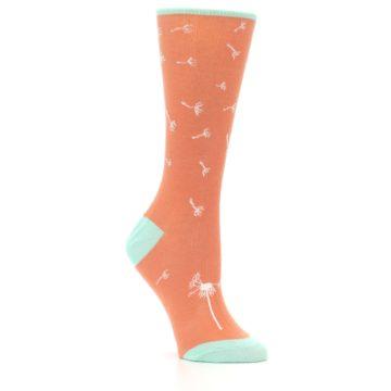Image of Coral Dandelions Women's Dress Socks (side-1-26)