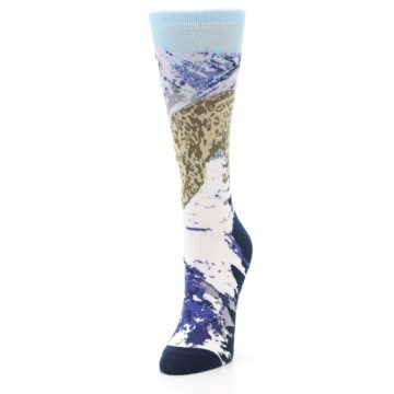 Image of Endangered Snow Leopard Women's Dress Socks (side-2-front-07)