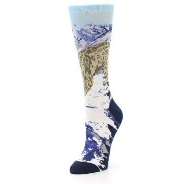 Image of Endangered Snow Leopard Women's Dress Socks (side-2-front-08)