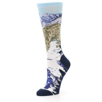 Image of Endangered Snow Leopard Women's Dress Socks (side-2-09)