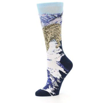 Image of Endangered Snow Leopard Women's Dress Socks (side-2-10)