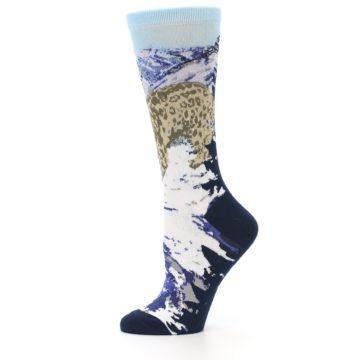 Image of Endangered Snow Leopard Women's Dress Socks (side-2-11)