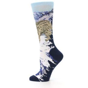 Image of Endangered Snow Leopard Women's Dress Socks (side-2-12)