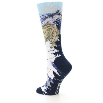 Image of Endangered Snow Leopard Women's Dress Socks (side-2-back-14)
