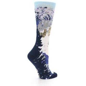 Image of Endangered Snow Leopard Women's Dress Socks (side-1-23)