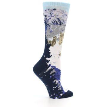 Image of Endangered Snow Leopard Women's Dress Socks (side-1-24)
