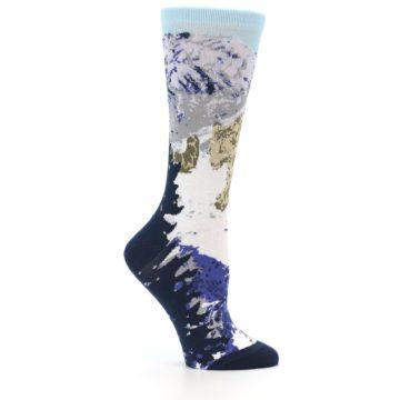 Image of Endangered Snow Leopard Women's Dress Socks (side-1-25)