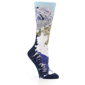 Image of Endangered Snow Leopard Women's Dress Socks (side-1-26)