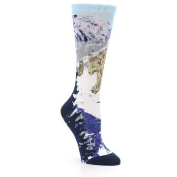 Image of Endangered Snow Leopard Women's Dress Socks (side-1-27)