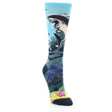 Image of Blue Ocean Shark Women's Dress Socks (side-1-front-02)