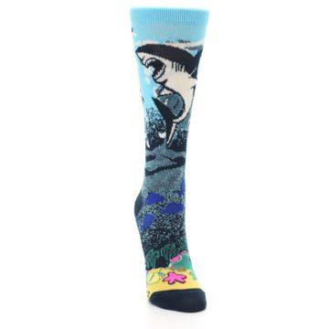 Image of Blue Ocean Shark Women's Dress Socks (side-1-front-03)