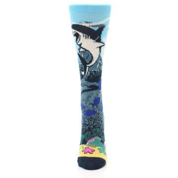 Image of Blue Ocean Shark Women's Dress Socks (front-05)
